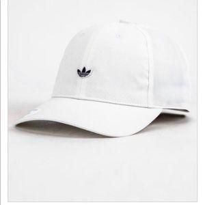 White adidas minimalist cap